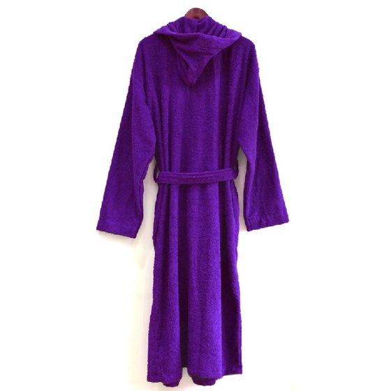 0838793a9c Spa   Resort - Heavy Dark Purple Hooded Terry Cloth Bathrobe. XXL ...