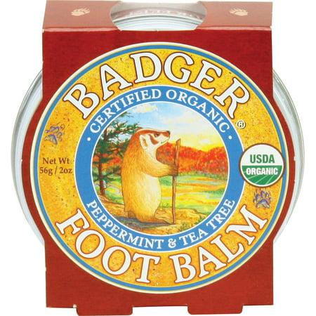Foot Balm, Peppermint & Tea Tree - 2 oz Tin Badger