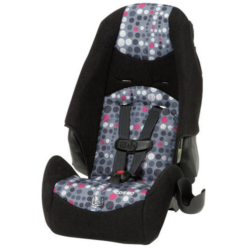 Cosco Highback Booster Car Seat, Dots