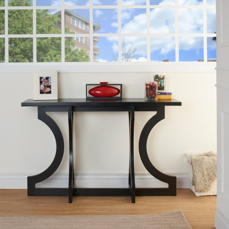 Tiarra curved design modern entryway table for Furniture for curved wall in foyer
