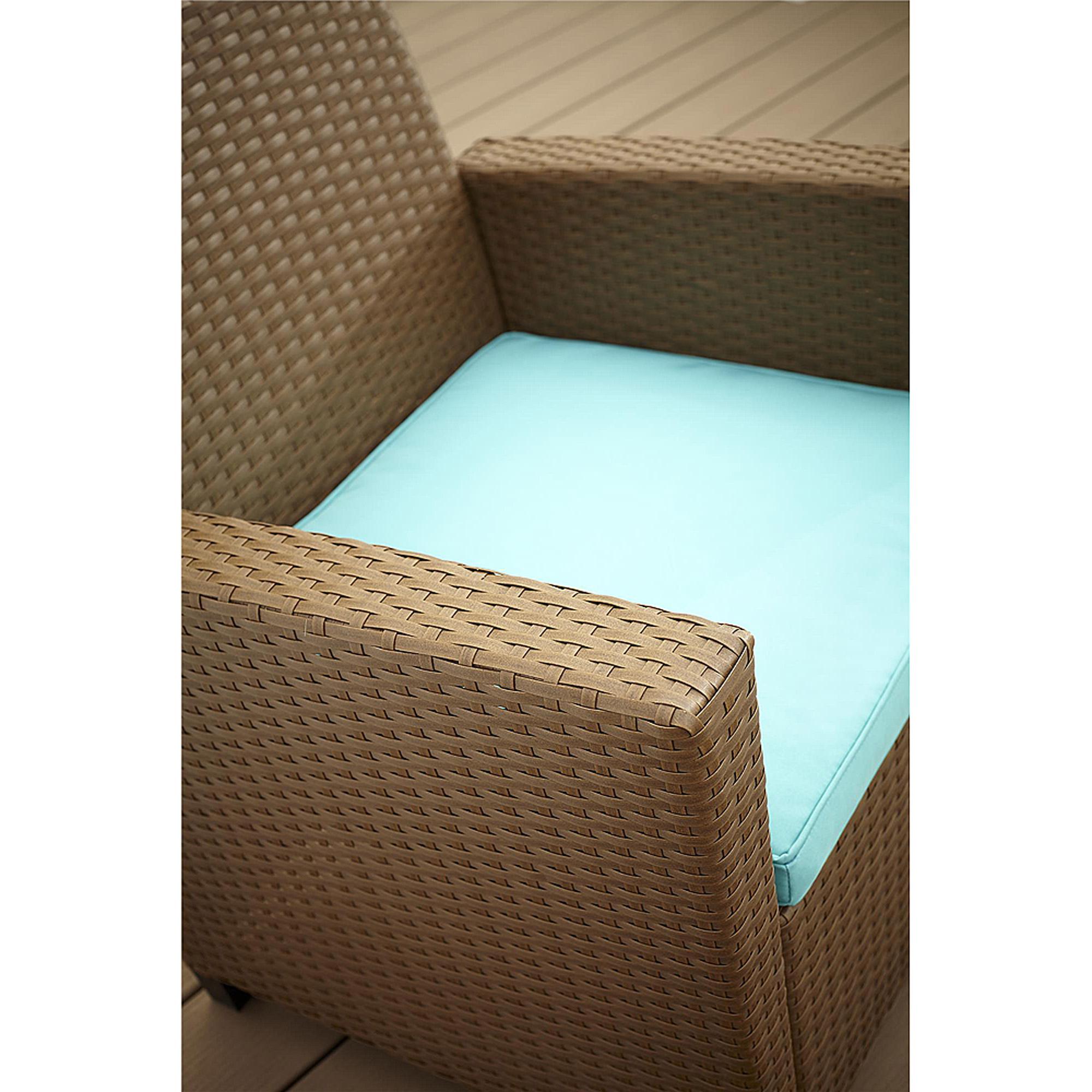 Teal Furniture Cosco Outdoor Malmo 4Piece Resin Wicker Patio Conversation Set