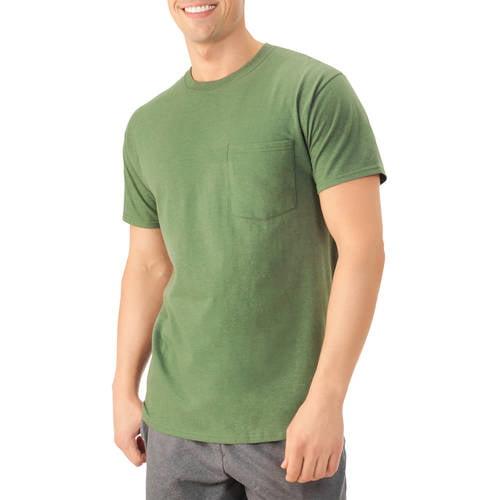 Platinum Eversoft Men's Short Sleeve Crew Pocket T Shirt, up to Size 4XL