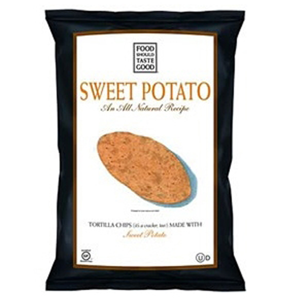 Food Should Taste Good Sweet Potato Tortilla Chips 1.5 oz Bags * 24