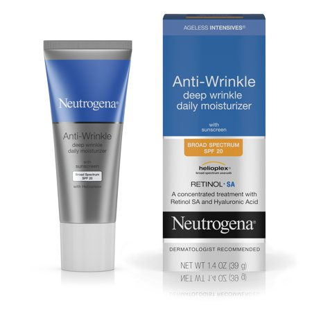 Neutrogena Ageless Intensives Anti-Wrinkle Deep Wrinkle Daily Moisturizer With Retinol, Broad Spectrum Spf 20 Sunscreen, 1.4 Oz.