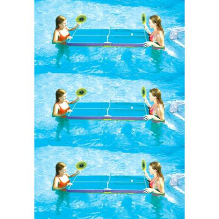 3 Swimline 9164 Swimming Pool Floating Ping Pong Table Tennis Game w/Paddles