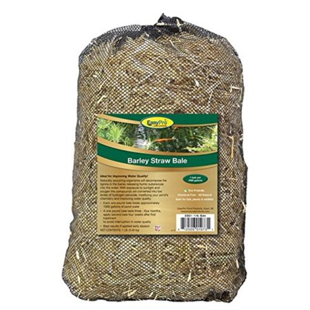 EasyPro EBS1 Barley Straw Bale for Ponds and Waterfalls, 1-Pound, Each one pound bale treats approximately 1000 gallons of pond water By EasyPro Pond - Pondcare Pond Barley