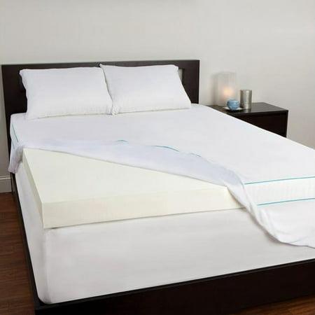 4 inch mattress topper queen Sealy 4 Inch Memory Foam Mattress Topper (Queen) 4 Inch Memory  4 inch mattress topper queen