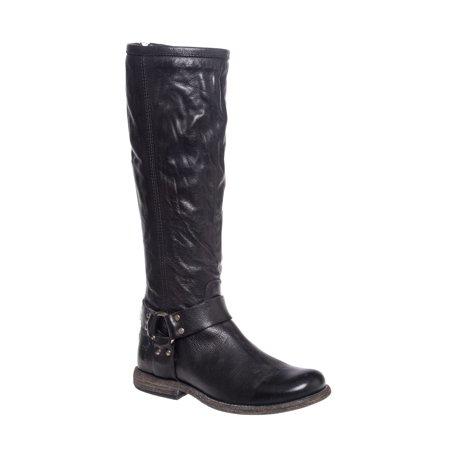 frye women's phillip harness tall medium calf boot, black soft vintage leather, 6 m us (Frye Boots Harness)