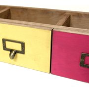 "Salvaged 3 Drawer Set 21""X6""X4.25""-Red, Orange & Yellow"