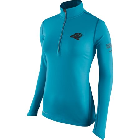 Carolina Panthers Nike Women's Tailgate Element Half-Zip Performance Jacket -