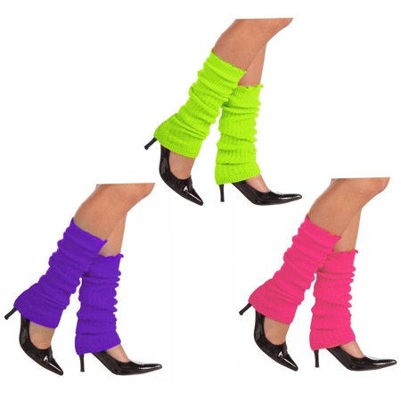 Neon Line Leg Warmers Halloween Accessory, Pink