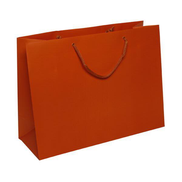 "JAM Paper Matte Gift Bags, 16"" x 12"" x 6"", Orange, 100/box"