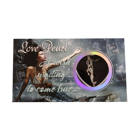 Make A Wish Necklace - Mermaid Love Wish Pearl Kit Cultured Pearl Necklace Set with Stainless Steel Chain 16