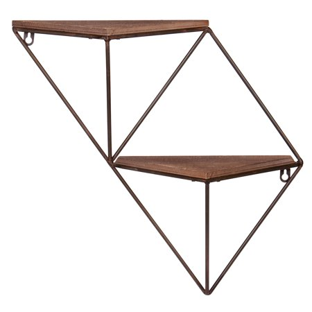 Two Step Wood and Metal Geometric Triangle Wall -