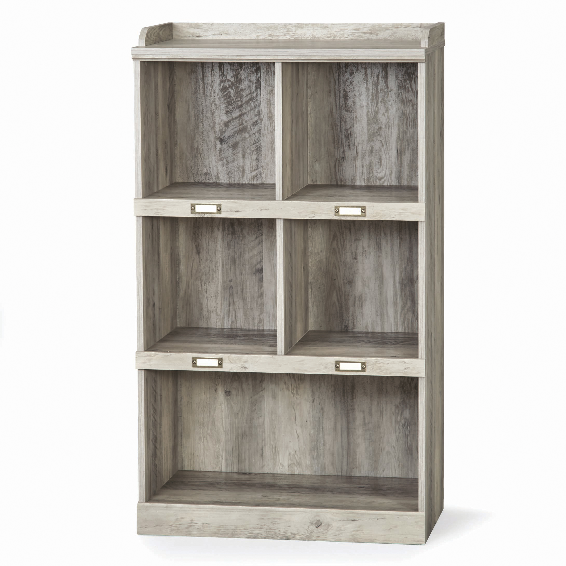 Better Homes & Gardens Modern Farmhouse 5-Cube Organizer with Name Plates, Rustic Gray Finish
