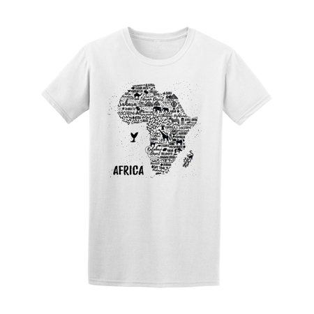Africa Map With Animals Tee Men's -Image by -