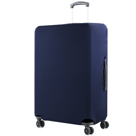 28-30 in. Navy Solid Luggage Cover