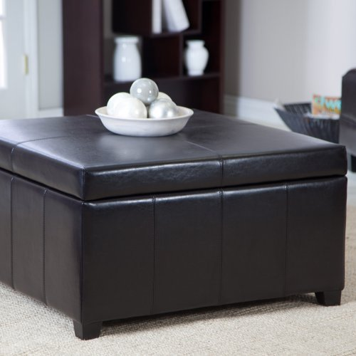 Cape Town Large Leather Storage Ottoman