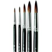 Sax Basic Style D Camel Hair Watercolor Paint Brush Set, Assorted Size, Black, Set of 5