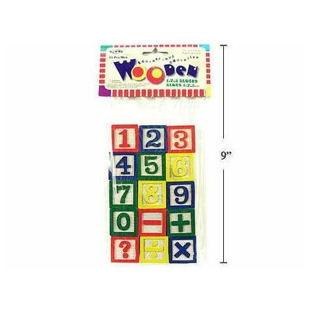 Number Wooden Block 15 Pieces - image 1 de 1