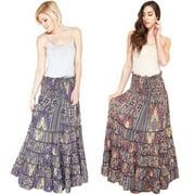 Summer Jungle Gyspy Skirt (India) Black