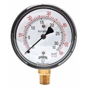 WINTERS Low Pressure Gauge,Bottom,0 to 55 in H2 PLP302