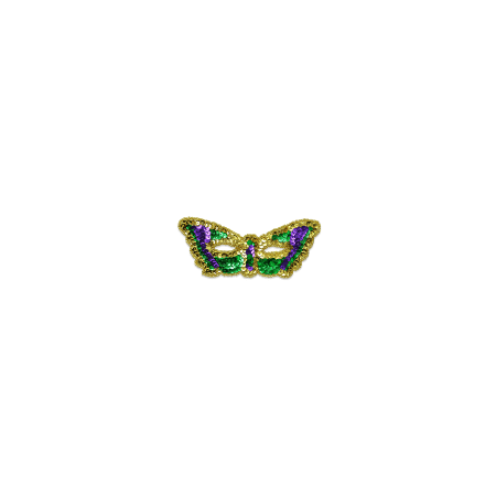 Expo Int'l Iron-on Sequin Mardi Gras Butterfly Mask - Halloween And Party Expo