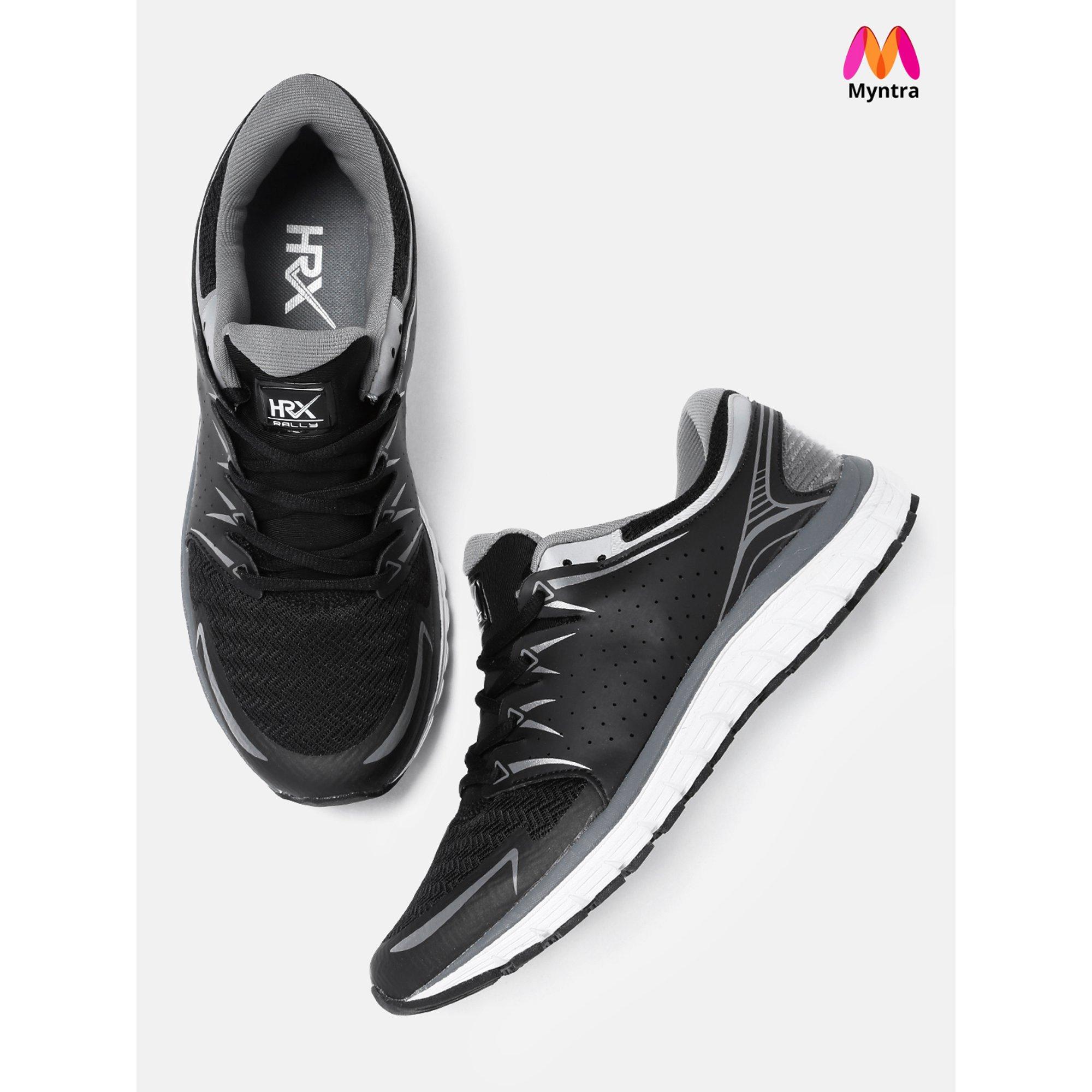 ada199881c6 HRX by Hrithik Roshan Men Black Running Shoes
