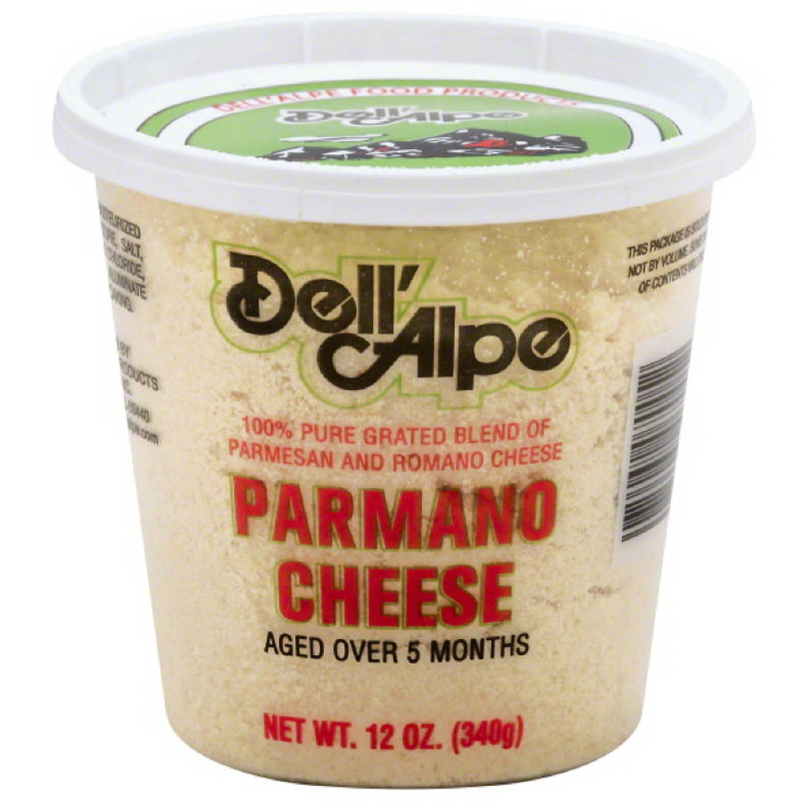 Dell' Alpe Parmano Cheese, 12 oz, (Pack of 6)