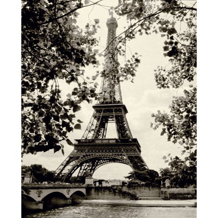 French Country Mini (Eiffel Tower II - Mini Travel White Travel Retro And Fashionable France Lovely Black Home Decor 8X10)