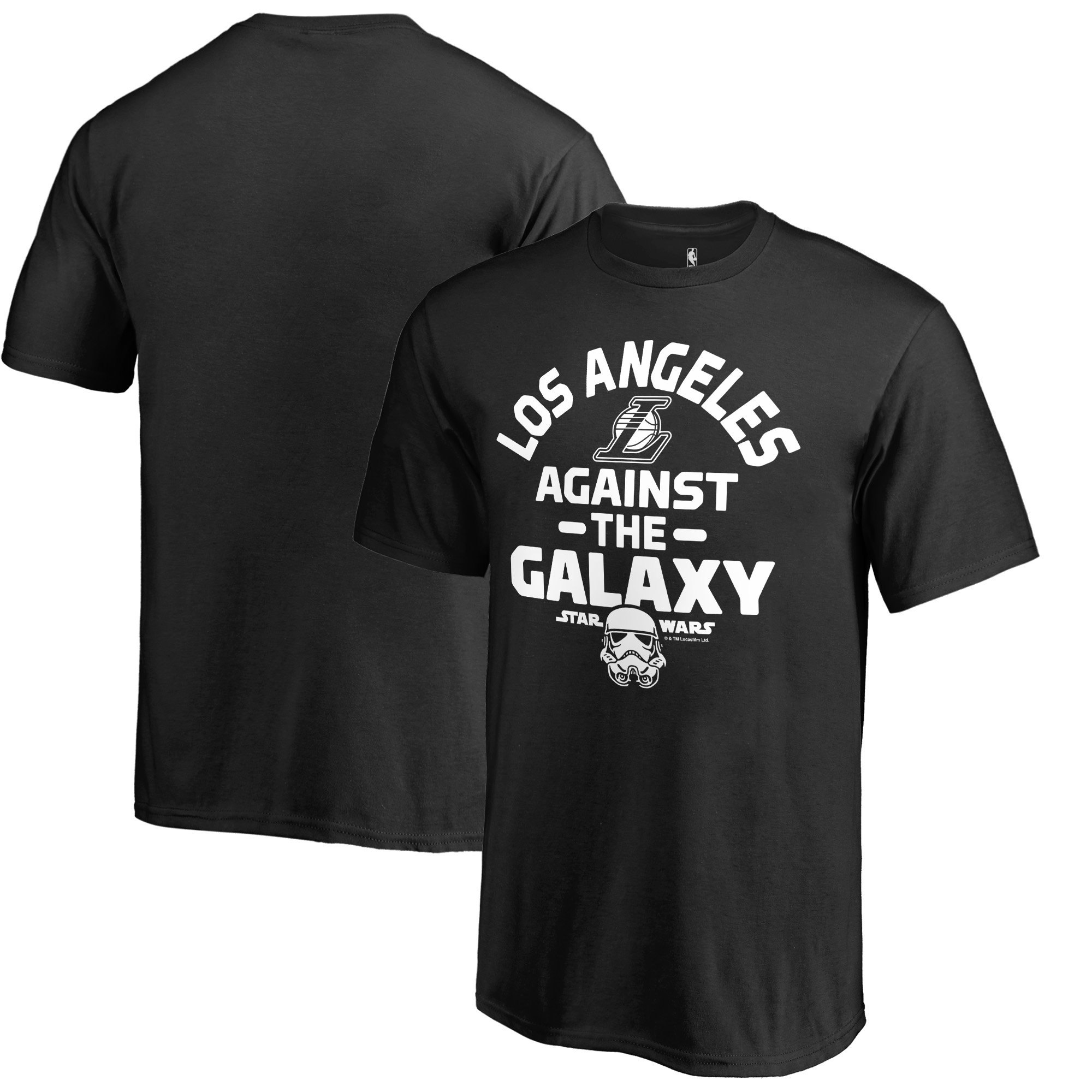 Los Angeles Lakers Fanatics Branded Youth Star Wars Against the Galaxy T-Shirt - Black