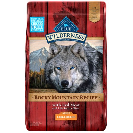Blue Buffalo Wilderness Rocky Mountain Recipe Red Meat Grain Free Large Breed Dog Food,