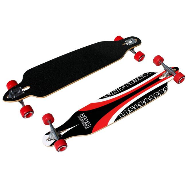 Click here to buy Atom Drop-Through Longboard 41 Inch (Red Black) by Atom.