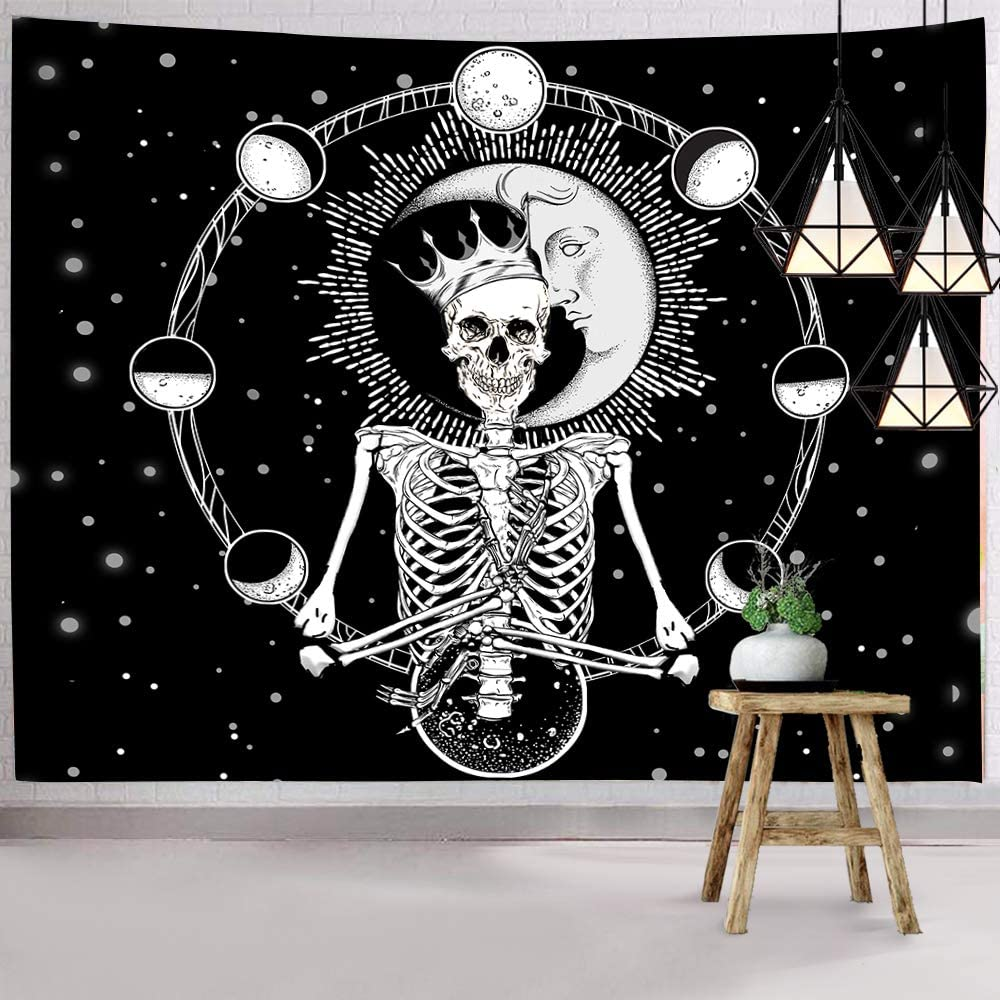 Skull Lady Wall Hanging Tapestry Psychedelic Bedroom Home Decoration