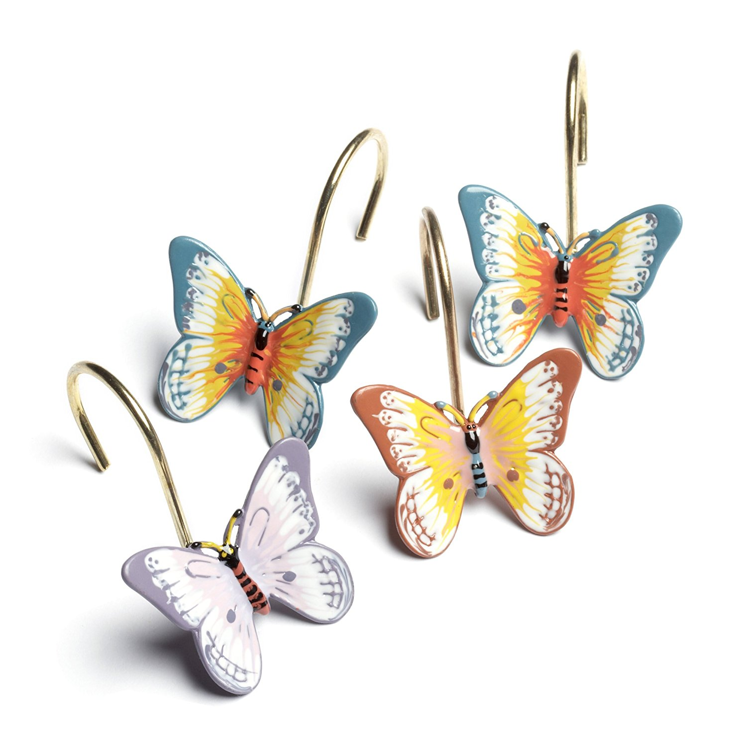 Butterfly Meadow Set of 12 Shower Curtain Hooks, Cotton 70%   Rayon from Bamboo 30% By... by