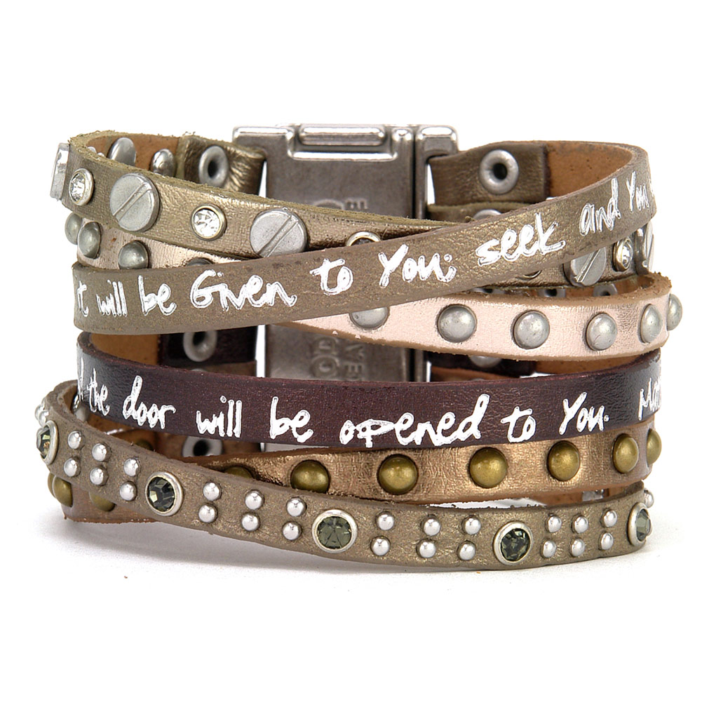 Women's Ask And It Will Be Given To You Scripture Verse Matthew 7:7 Wrap Bracelet