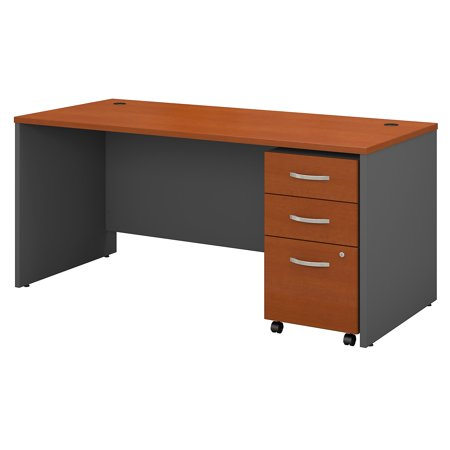 Series C Returns & Bundles 189 Lbs Weight Capacity Engineered Wood 66 W x 30 D Shell Desk with 3 Drawer Mobile