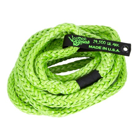 Daystar 1300009 Recovery Strap Voodoo Offroad 3/4 Inch Round X 30 Foot Long; Rated To 24500 Pounds; Without Sleeve; Green; Braided Nylon With Urethane Polymer Coating; With Duffle Bag - image 1 de 1