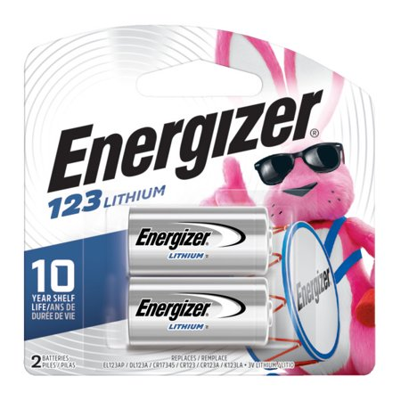 Energizer 123 Lithium Photo Battery, 2-Pack Lithium Photo Camera Battery
