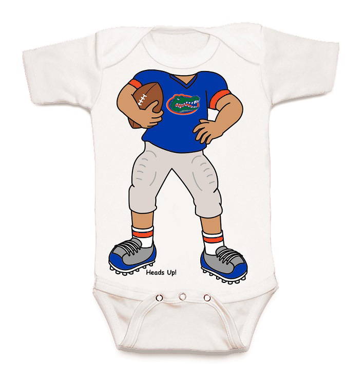 Florida Gators Heads Up Football Baby esie Walmart