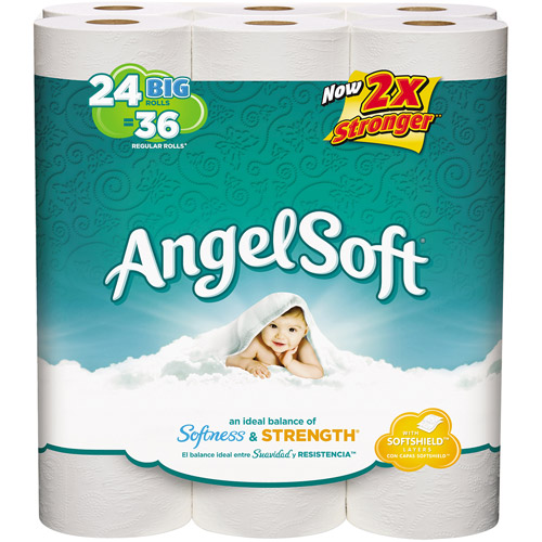 Angel Soft Bath Tissue Big Rolls, 250 sheets, 24 rolls