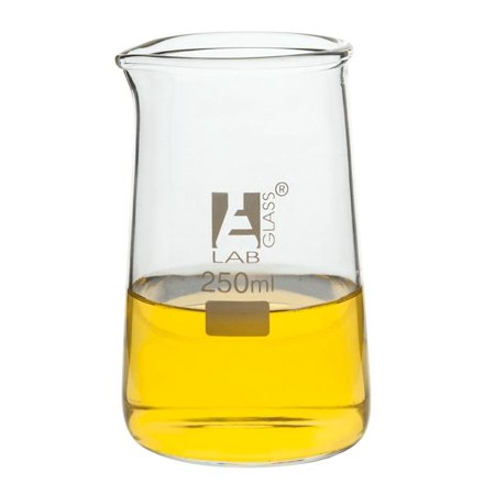 Glass Replacement Beaker (250mL Beaker Conical Phillip Pattern with Spout - Borosilicate Glass (4.2