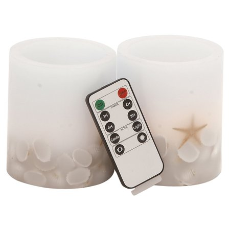 LED Flameless Candle Set with Remote, Ivory ()