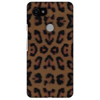 Google Pixel 2 XL Case - Wild Leopard, Hard Plastic Back Cover. Slim Profile Cute Printed Designer Snap on Case with Screen Cleaning Kit