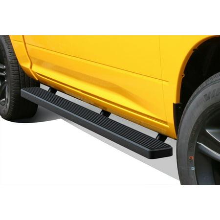 Matte Black 5   Running Boards 09 17 Dodge Ram 1500 10 17 Ram 2500 3500 Crew Cab