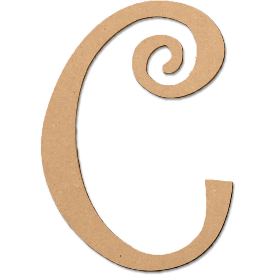 """C 5"""" Curly Letter"""