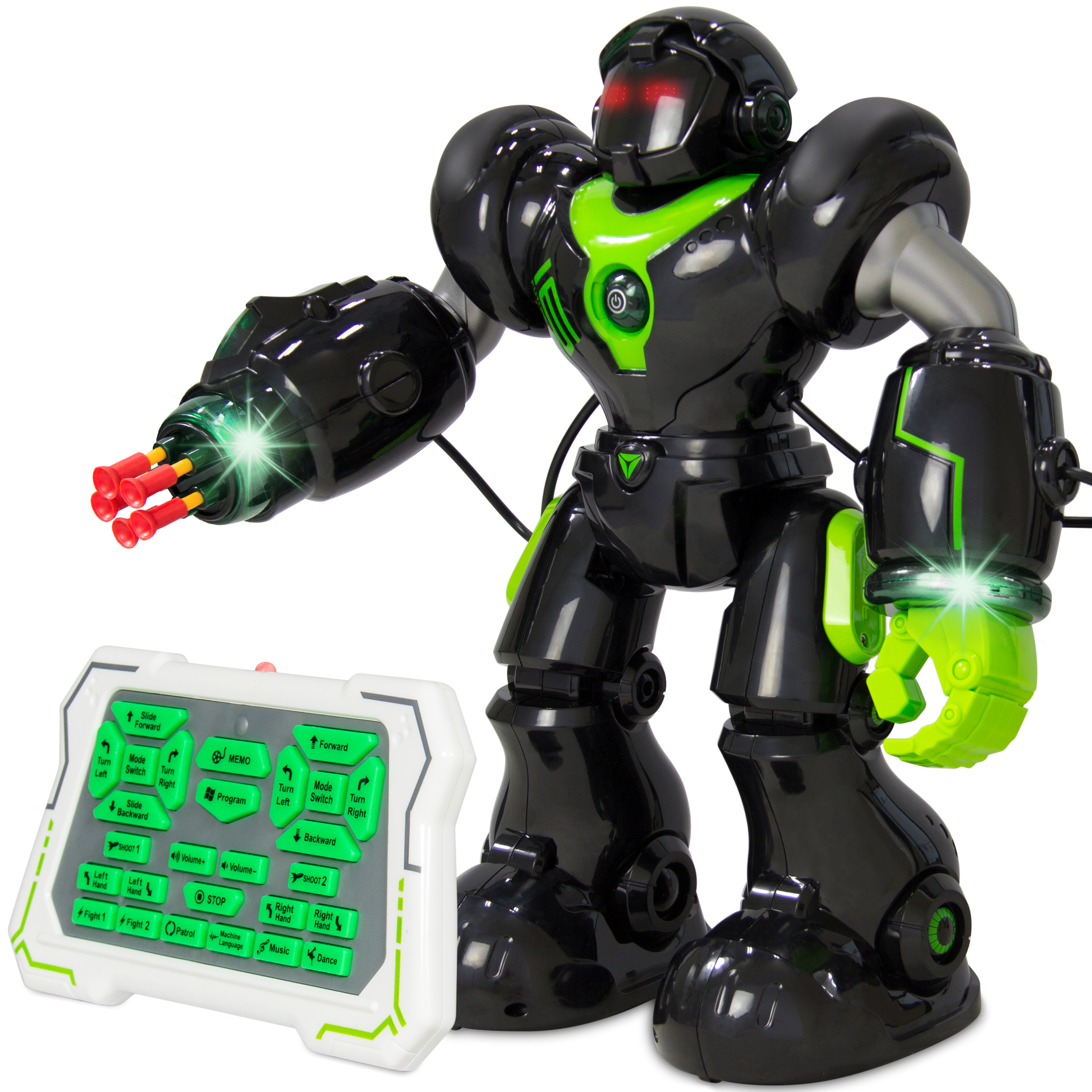 Best Choice Products Intelligent Remote Control RC Robot Talking Walking Shooting Light &... by