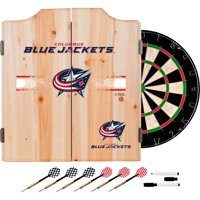 NHL Dart Cabinet Set with Darts and Board - Columbus Blue Jackets