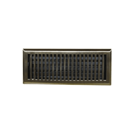 4 X 10 Brass Plated Contemporary Floor Register Vent