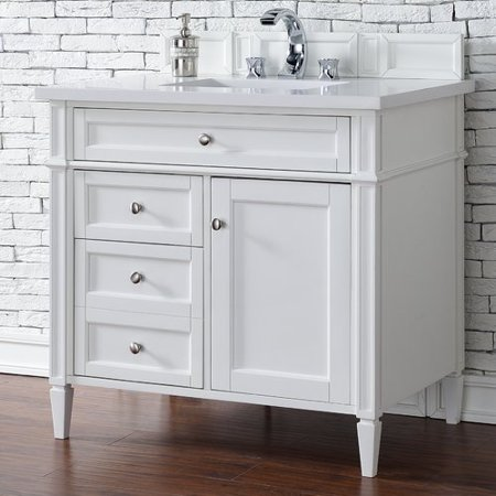 Darby Home Co Deleon 36'' Single Cottage White Bathroom Vanity Set on 36 white single vanity, 36 inch wall mount vanity, pottery barn double sink vanity, 36 white kitchen sink, 36 inch white vanity, 36 white cabinets, utility sink vanity, allen roth 36-in vanity, 36 white vanity with top,